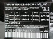 2011 MERCEDES ML350 4 MATIC