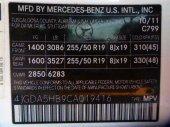 2012  MERCEDES-B  ML350W4  3.5L